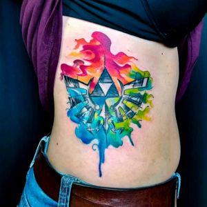 Amazing Zelda Tattoo by Edson Turco Tattooist #tattoodo #TattoodoApp #tattoodoBR #Zelda #nintendo #gamer #games #nerd #geek #colorida #colorful #tatuadoresdobrasil #EdsonTurcoTattooist