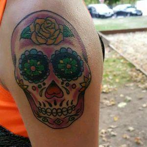 #mexicanskull #tattoooldschool