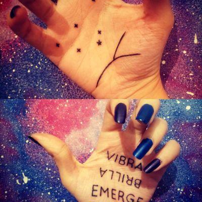 #mantra #hands #letteringtattoo #letters #quote #constellation #ElPrincipito #frase #frase en español