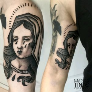 Blessed Virgin Mary, The Mother of God #traditionaltattoos #oldschool #traditional #tattoo #traditionaltattoo #oldschooltattoo #blessedtattoo #virginmary #mothermary #sainttmarytattoo #SAINTTATTOO #magdatinto #luckytattoo #Tychy #Poland #polandtattoo