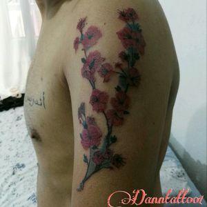#cherrytree #cerezo #flowers #flores #ink #tatuaje #tattoo #colortattoo #tatuajeacolor