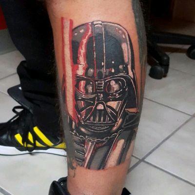 Darth Vader! #tattoodo #tattoodoapp #starwarstattoo #starwars #darthvadertattoo #darthvader #sithlord #darklord #colorportraittattoo #colorportrait #colorrealismtattoos #funtattoos #fusionink #cheyennetattooequipment #resonancetattoo #longisland #buschatzke