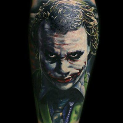 #thejoker #joker #jokertattoo #JokerTattoos #batman #batmanjoker #HeathLedger #heathledgerjoker #color #colorfull #fullink #portrait #realism #realistic #smile #tattoo #tattoodo #ink #colour #colorrealism #watercolor #movie #movietattoo