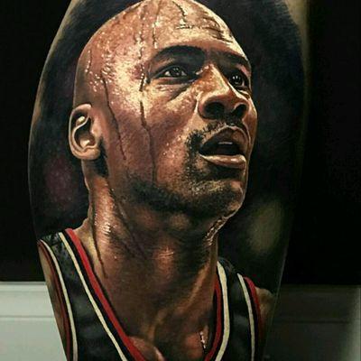 #mj #michael #michaeljordan #jordan #23 #mj23 #basketball #nba #goat #legend #realistic #realism #unreal #detail #color #colorfull #😊 #tattoo #tattoodo #tattoed #👏 #inked #Lightsout