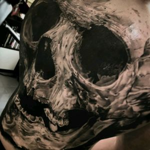 #MichaëlTaguet #Fullback #Skull #Realism #LargeScale #BlackandGrey