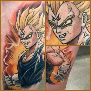 My #Vegeta tattoo by #Sausage  #DragonBallZ #DBZ #WalterFrank #Anime #SuperSaiyan #Majin #MajinVegeta