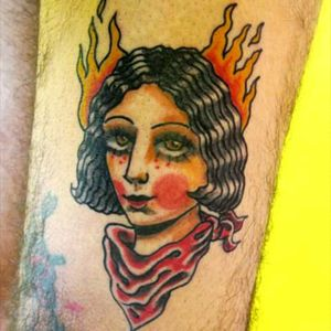 #neotraditional #traditionalportrait #fire