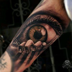 #eyetattoo #horortattoo #blackandgraytattoo  #realistictattoo  #3dtattoo  #KostasKatsiavos