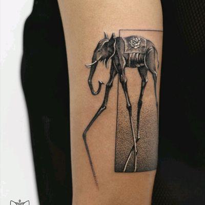 By #DeborahGenchi #elephant #surrealism #salvadordali #Dali