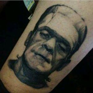 Frankenstein, healed. #Frankenstein #blackandgrey #horrormovies #frankensteintattoo #portrait