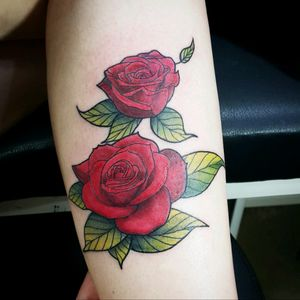 Roses from last friday #rose #colortattoo #color #redrose