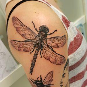 Dragonfly Christine.letsbuzz@gmail.com #letsbuzz #letsbuzztattoo #letsbuzzbergen #christinetattoo #bergen #tatovering #tattoo