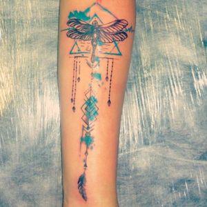 #tattooaquarela #tattoolibelula