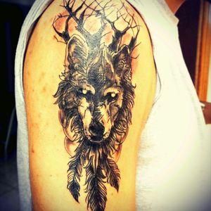 #tattoowolf #tattoodark