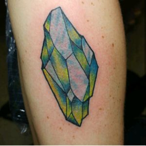 Really fun crystal for his first. His color pallet. #traditionaltattoos #neotraditionaltattoos #tattoos #kentuckytattooers
