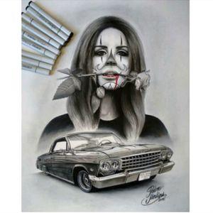 #PedroMedina #ChicanoStyle #Realism #Drawing #Pen #Chola #Payasa #LowRider #Art