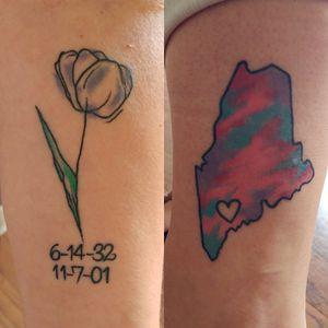 Healed from a few weeks back #tattoos #flowertattoos #maine #homeiswheretheheartis #abstracttattoos #simpletattoos #girlytattoos #justgirlythings #create #bcp #kentuckytattooers #killpinterest