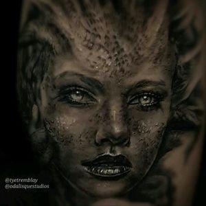 #medusa #inprogress #blackandgrey #realism #portrait