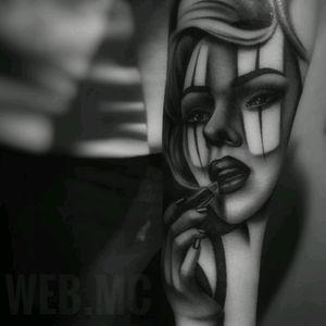 #WebMc #Chicano #Realism #Portrait #BlackandGrey #Payasa #Chola #Thug