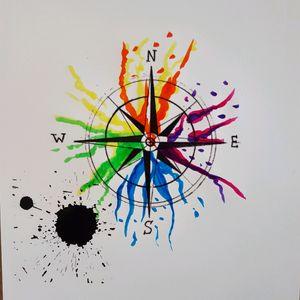 Compass #art #drawing #tattoodesign #compass