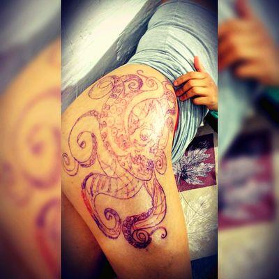 Blood line #bloodline #mexican #mexicantatto #tatto #ink #joelblackink #tattoodesigner #tatuadoresmexicanos #mexicanskull #blackwork #skull #kraken #mexican #tattooartist #inkedgirl