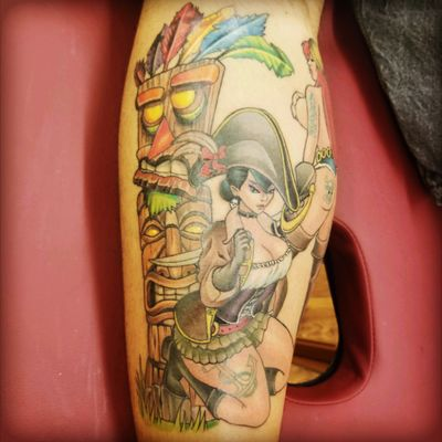 pirate pin up. completed! Sexy Pirate pinup one piece. #pirate #piratetattoo #piratepinup #pinup #pinuptattoo #sexy #epic #epicness #awesome #tattoo