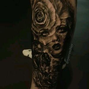 #ladyface #rose #blackandgrey #realism