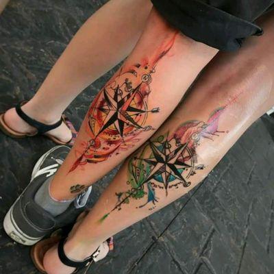 By Jean Alvarez. #tattoodo #TattoodoApp #tattoodoBR #tatuagem #tattoo #rosadosventos #compass #colorida #colorful #aquarela #warercolor #JeanAlvarez