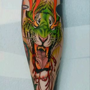 Neo Japanese by Peter Lagergren #tattoodo #TattoodoApp #tattoodoBR #tatuagem #tattoo #neojapones #neojapanese #neworiental #tigre #tiger #colorido #colorful #PeterLagergren