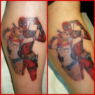 *#Deadpool #HarleyQuinn #color