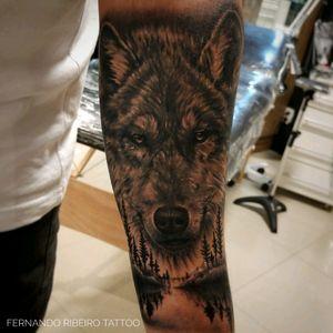 Wolf #wolf #wolftattoo #darkforest #tattoo