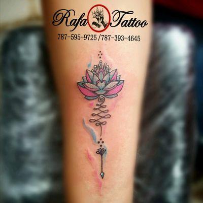 #rafatattoo #lotus #unalome