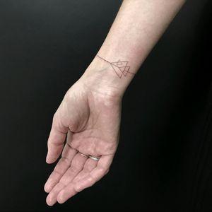 By #jakubnowicztattoo #bracelet #geometric #minimalist #simple