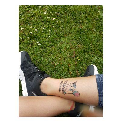 #unicorn #tattoo #bestbitches #matchingtattoos #balloon #sweet #summer #park #cheltenham #uk #bloodandhoney