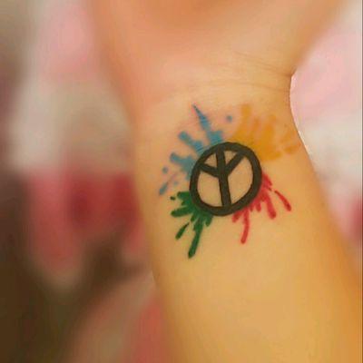 #fullcolor #tattoo #peace #love #arttattoo