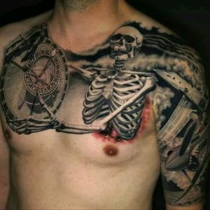 Jamie Schene #tattoodo #TattoodoApp #tattoodoBR #tatuagem #tattoo #caveira #skull #pretoecinza #blackandgrey #JamieSchene