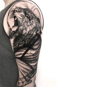 By #FrankCarrilho #tiger #animal #bigcat #tigertattoo #blackwork #sketch