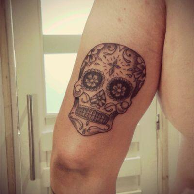#sugarskull #diasdelosmuertos #skull #blackandgrey