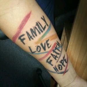 Family, Love, Faith, Hope / Familia, Amor, Fe, Esperanza Brush Lettering...