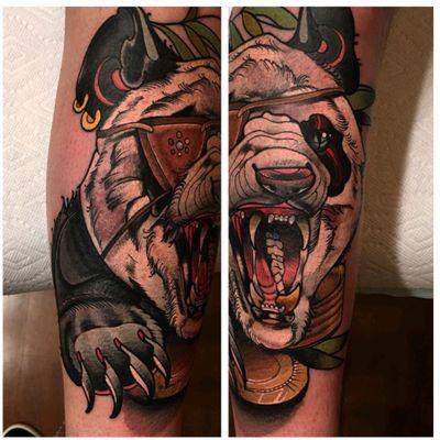 #panda #tattoo #redbaronink