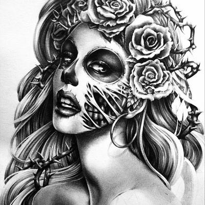 #dayofthedead #blackandgray #futureink #tattoed #future #ink #inked