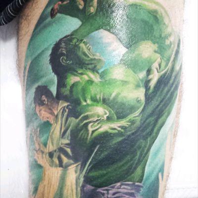 #kahunatattoo #MarvelTattoo #colortattoo #Hulk #colorrealism #meganmassacre