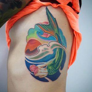 #newschooltattoo #mermaid #colorfull