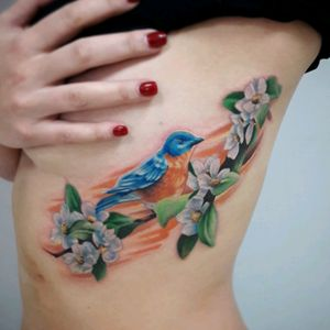 #bluebird #flowers #colorfully