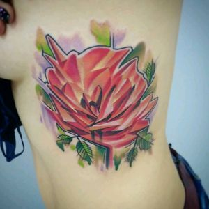 #newschooltattoo #rose #aquarelle #colorfully