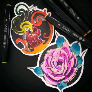 #tattooflash #sketchtattoo #rose #candlelight