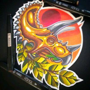 #tattooflash #sketch #dino #newschooltattoo