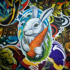 #bunny #newschooltattoo #colorfully