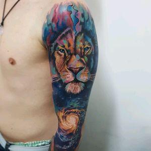 Feito em 8 horas. Com #sabretattoosupplies #viking_inks #tattoo #tattoodo #amazingtattoos #colorful #art