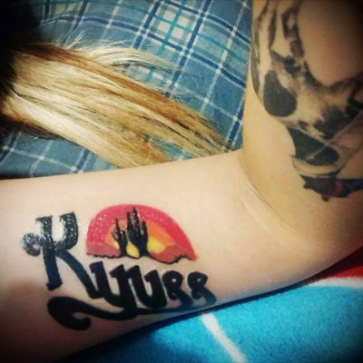 #Kyuss #Stoner #Rock #Tattoo #Desert Rock #Color #Welcome #to #Sky #Valley